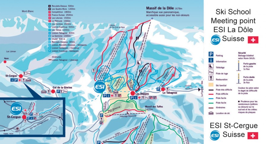 Where to find ski school ? Meeting point