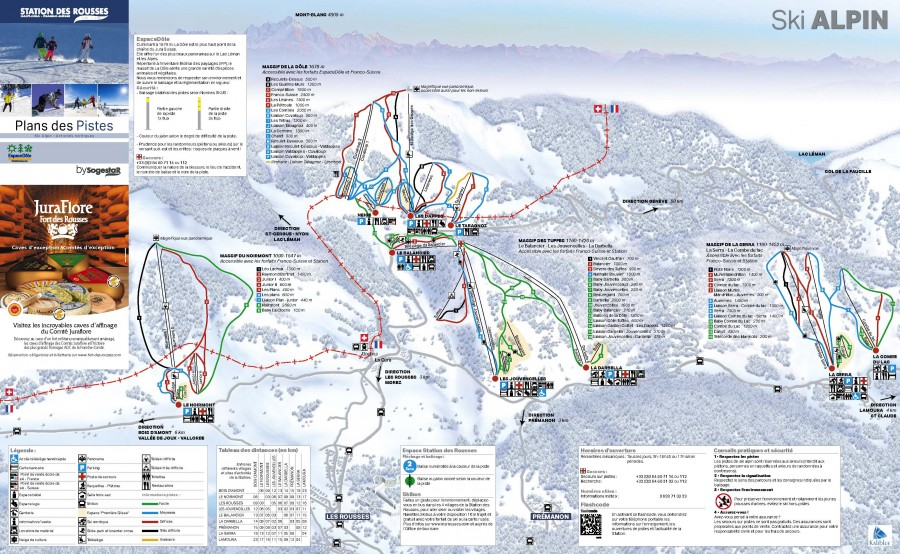 Ski map Jura sur Léman ski resort